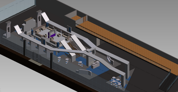 Inventor and AutoCAD - Exhibition stand - modell in the building