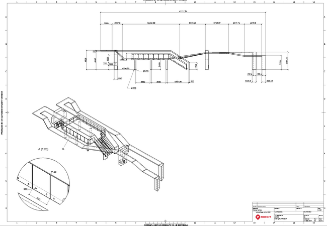 Inventor and AutoCAD -Exhibition stand - part drawing