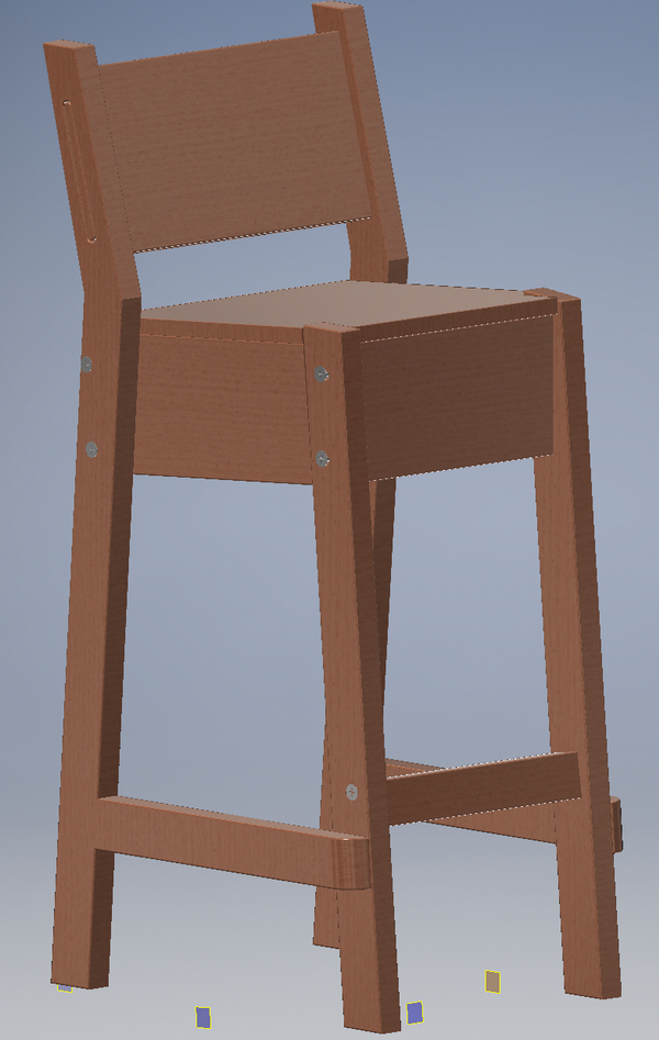 Inventor - IKEA chair ready constrained